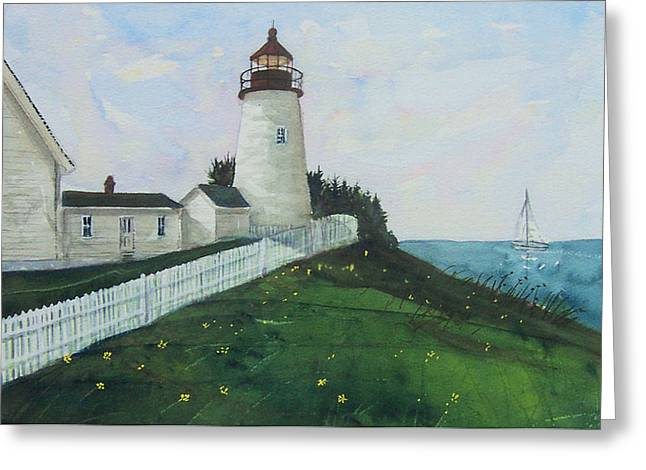 Lighthouse Calm Greeting Card