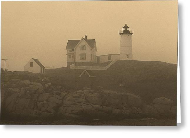 Lighthouse - Cape Neddick Greeting Card