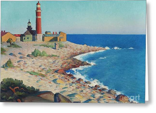 Lighthouse Greeting Card by Celestial Images