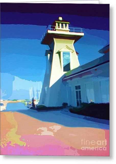 Lighthouse Greeting Card by Deborah MacQuarrie-Selib