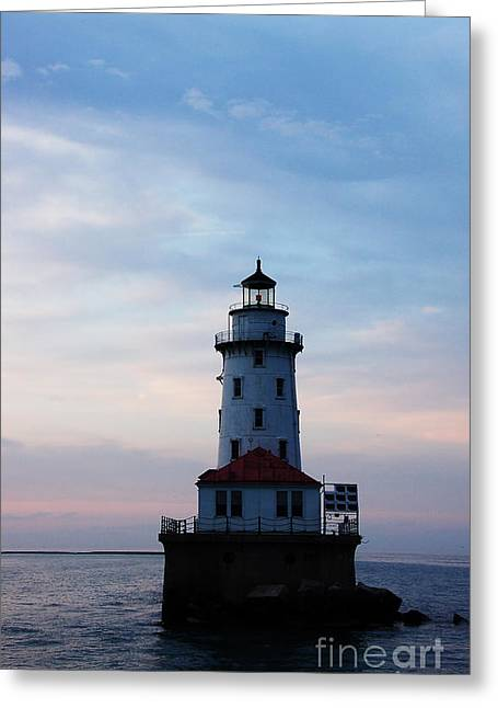 Lighthouse Greeting Card by Evia Nugrahani Koos