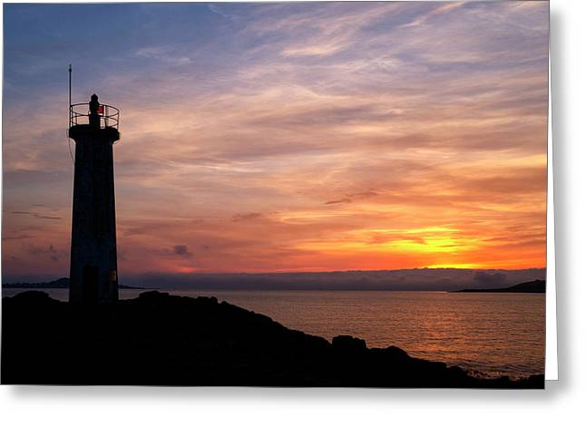 Greeting Card featuring the photograph Lighthouse by Fabrizio Troiani