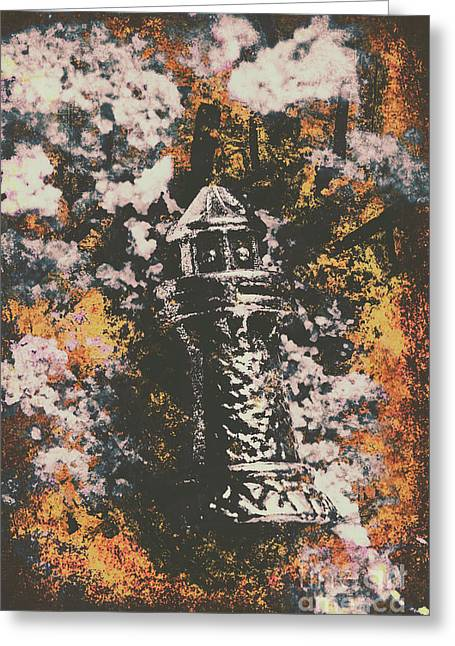 Lighthouse From Rust Harbour Greeting Card