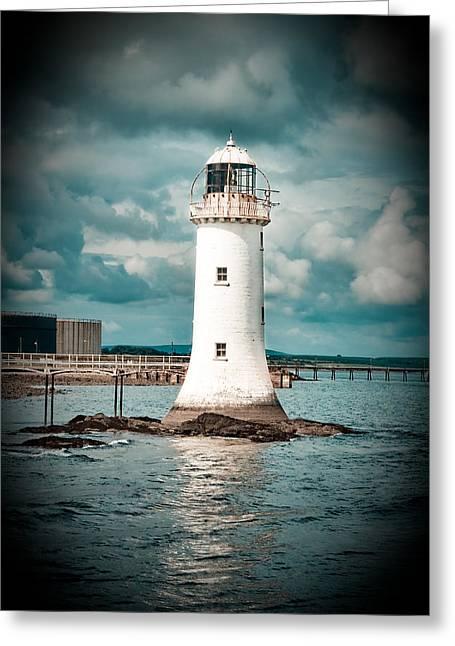 Lighthouse Greeting Card by Gabriela Insuratelu
