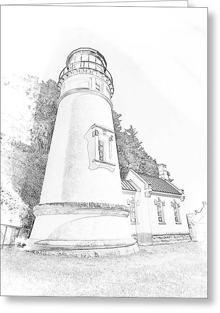 Lighthouse In Oregon Greeting Card