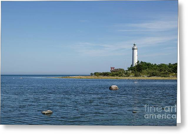 Greeting Card featuring the photograph Lighthouse In The Baltic Sea by Kennerth and Birgitta Kullman