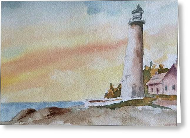 Lighthouse Greeting Card by Jim Stovall