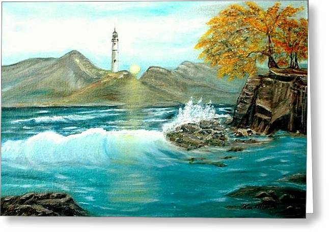 Lighthouse Greeting Card by Kenneth LePoidevin