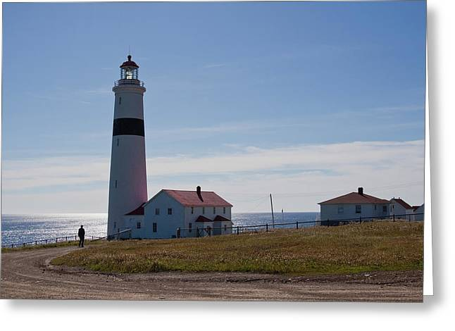 Lighthouse Labrador Greeting Card