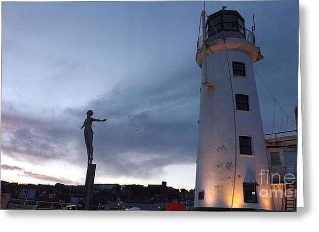 Lighthouse Lady 2 Greeting Card