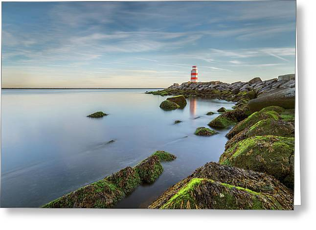 Lighthouse Greeting Card by Menno Schaefer