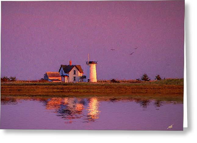 Lighthouse Greeting Card by Michael Petrizzo