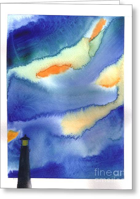 Lighthouse Greeting Card by Mui-Joo Wee