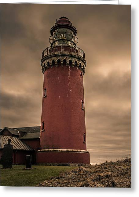 Greeting Card featuring the photograph Lighthouse by Odd Jeppesen