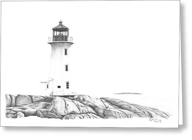 Lighthouse Of Peggy's Cove Greeting Card