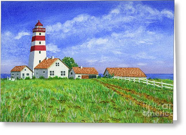 Lighthouse Pasture Greeting Card