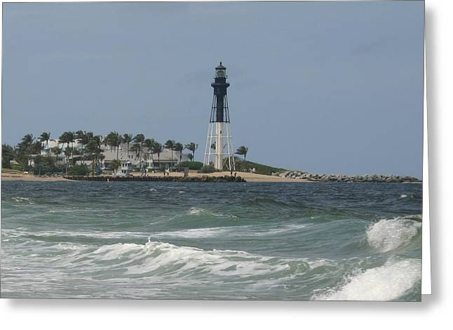 Lighthouse Point Fl. Greeting Card by Dennis Curry