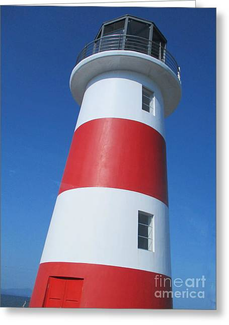 Lighthouse Puntarenas Greeting Card by Randall Weidner