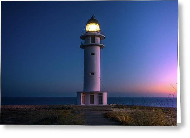Lighthouse Greeting Card by Happy Home Artistry