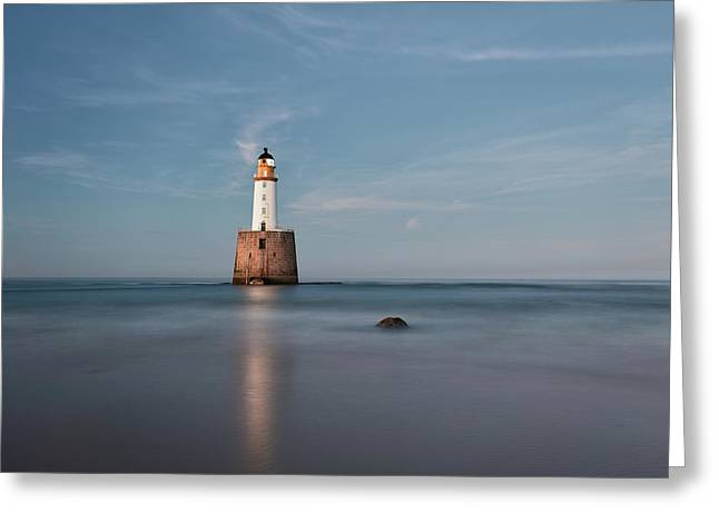 Greeting Card featuring the photograph Lighthouse Twilight by Grant Glendinning