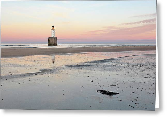 Lighthouse Sunset - Rattray Head Greeting Card