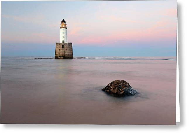Greeting Card featuring the photograph Lighthouse Rattray by Grant Glendinning