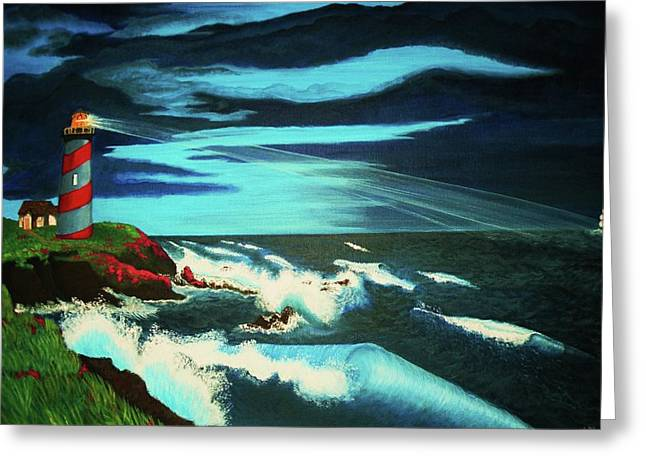 Lighthouse Rescue Greeting Card