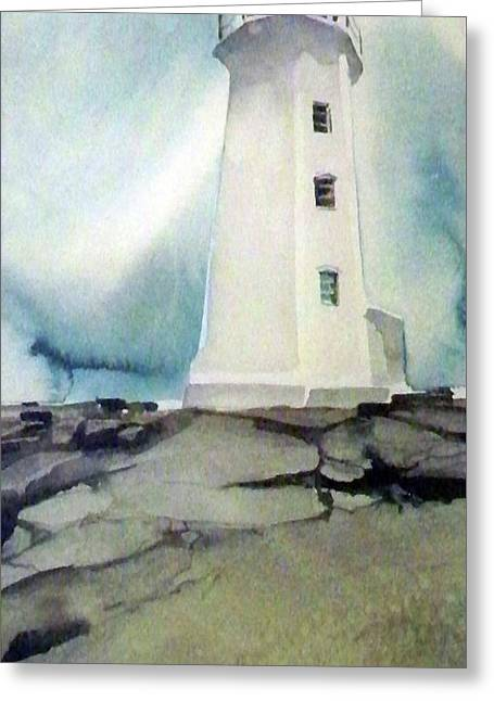 Lighthouse Rock Greeting Card