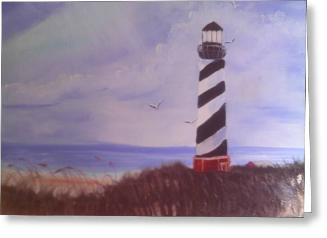 Lighthouse Greeting Card by Rosemary Mazzulla