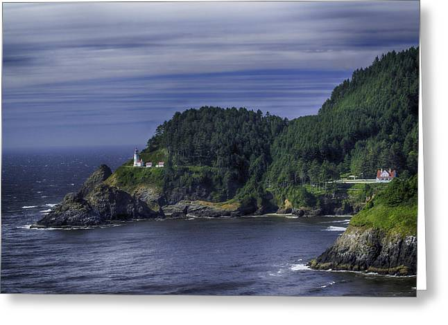 Lighthouse Sanctuary Greeting Card by Rob Wilson