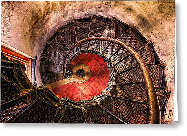 Lighthouse Stairwell Greeting Card by Thomas Hall Photography