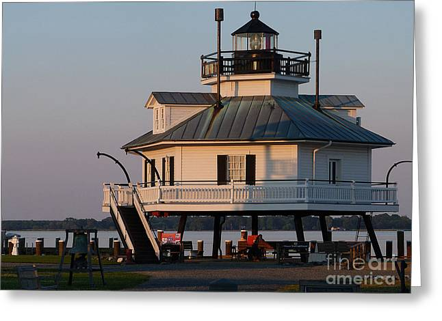 Lighthouse  St.michaels Md Greeting Card
