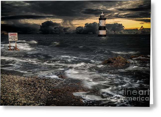 Lighthouse Storm Greeting Card