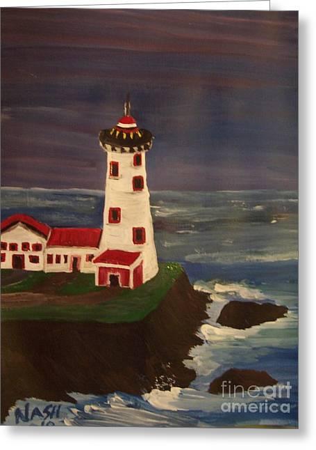 Lighthouse Greeting Card by Teresa Nash