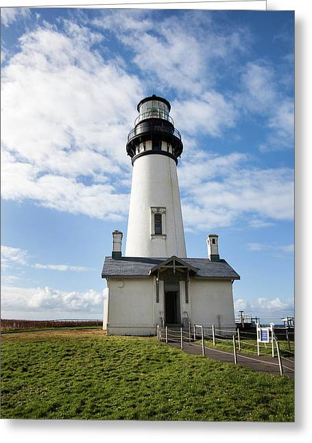 Greeting Card featuring the photograph Lighthouse View by Mary Jo Allen