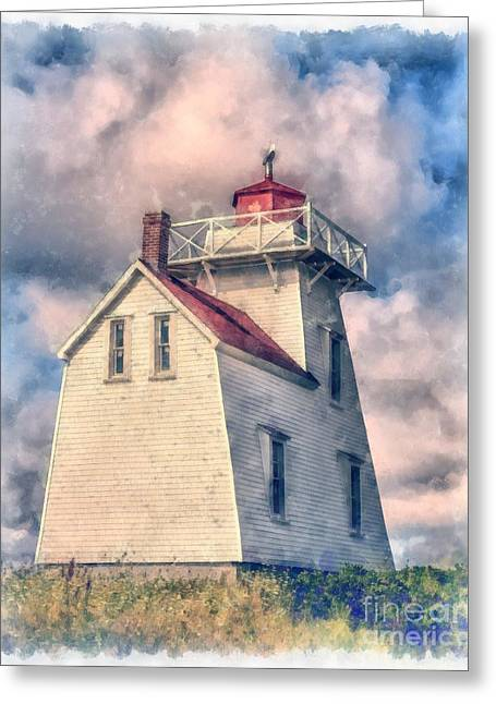 Lighthouse Watercolor Greeting Card