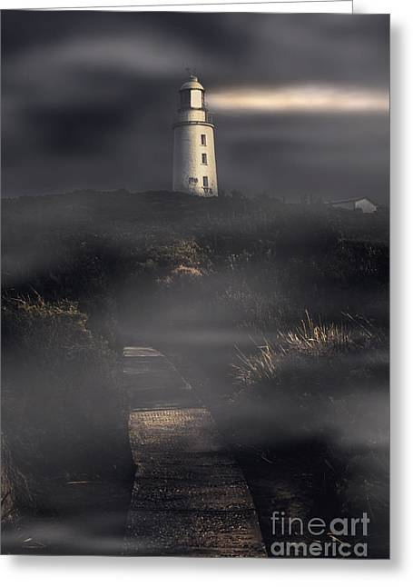 Lighthouse Way Greeting Card by Jorgo Photography - Wall Art Gallery