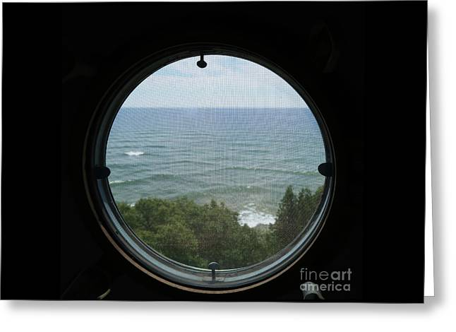 Lighthouse Window View Greeting Card
