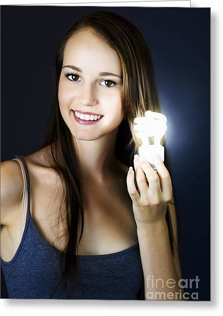 Greeting Card featuring the photograph Lighting The Way To Innovation by Jorgo Photography - Wall Art Gallery
