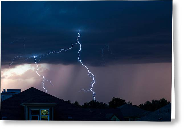 Lightning 2 Greeting Card