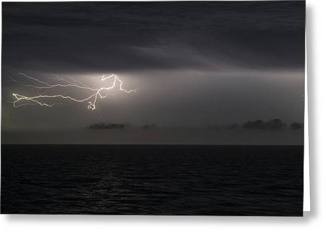 Lightning At Sea II Greeting Card