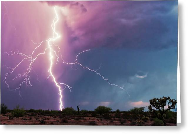 Lightning Dancer Greeting Card