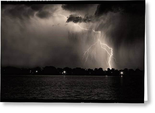 Lightning Energy Poster Print Greeting Card by James BO  Insogna
