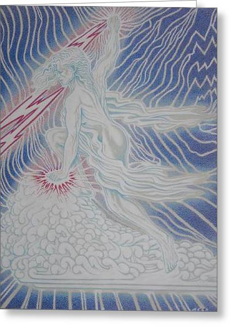 Lightning Goddess Greeting Card