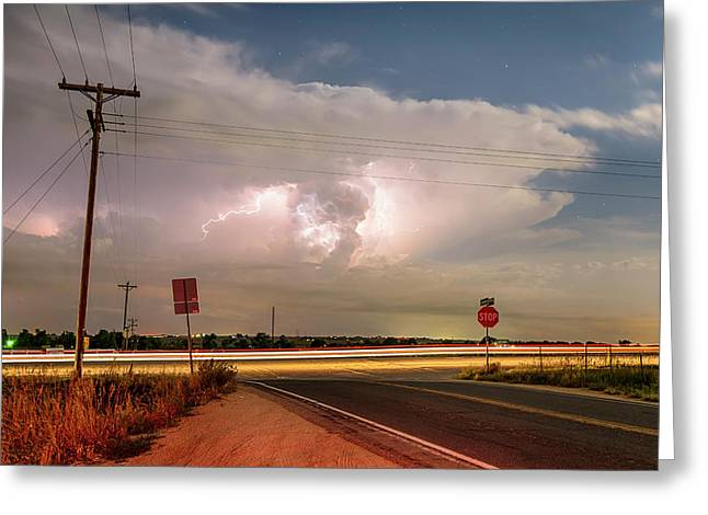 Lightning Leading Lines Greeting Card by James BO Insogna