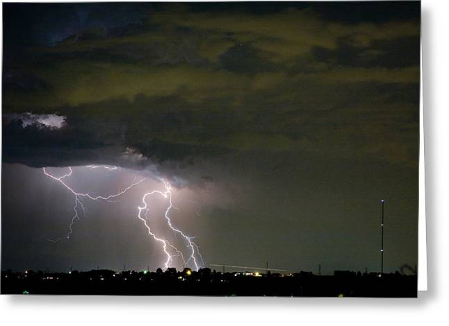 Lightning Man In The Clouds Greeting Card by James BO  Insogna