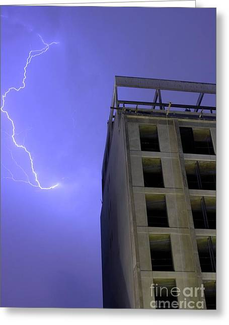 Lightning On Rivadavia Greeting Card
