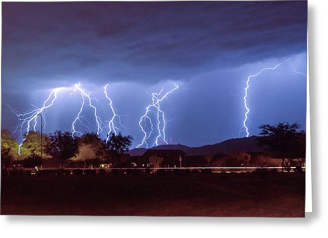 Lightning Over Laveen Greeting Card
