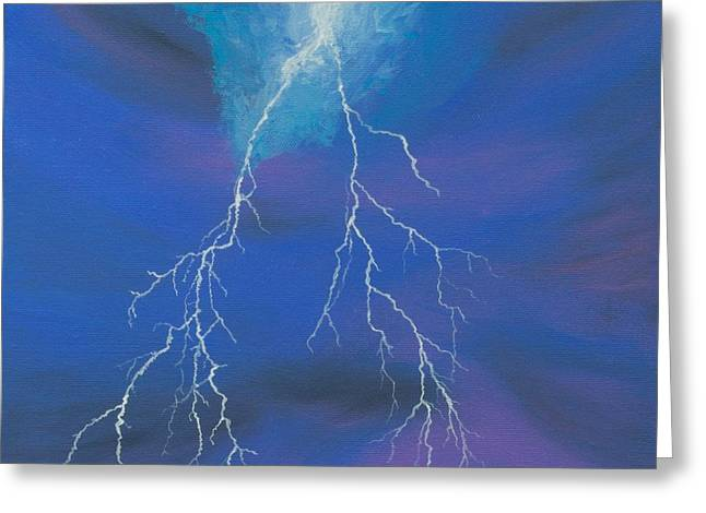 Lightning Over The Potomac Greeting Card