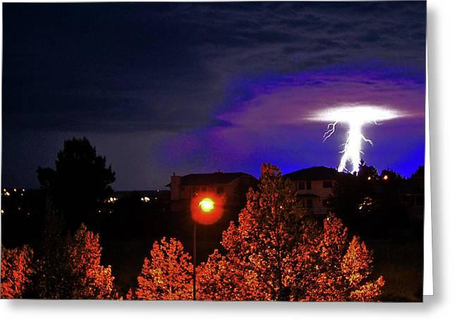 Lightning Power II Greeting Card by Al Bourassa